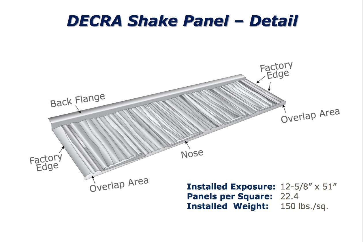 Decra Shake By Decra 174 Metal Roofing Experts